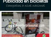 Bicicletas publicitarias/ publicidad móvil en quit