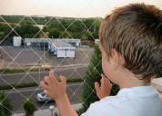 mallas nylon para balcones ventanas pasamanos
