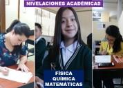 Nivelaciones acadÉmicas y clases personalizadas