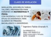 Clases de nivelacion de matematicas y fisica