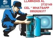 servicio tecnico reparacion de laptop a domicilio