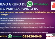 Grupo interactivo de whatsapp solo parejas quito