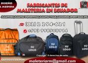 Fabrica de mochilas en ecuador