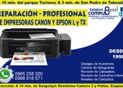 servicio técnico garantizado de impresoras canon