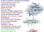 Paginas web , hostin anual , email corporativo
