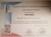 Clases particulares de ingles matematicas natacion para ninos jovenes y adultos en Riobamba