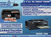 Reparación de impresoras epson y canon, rumiloma