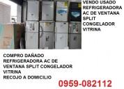 Compro daÑado / vendo usado refrigeradora ac de ve