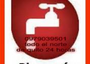 Plomero en cobre 097 9039501 todo nort d quito 24h