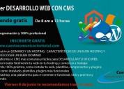 Aprende cms y desarrollo web gratis