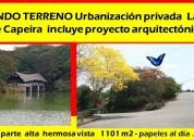 Vendo terreno 1101 urbanizacion lago de capeira
