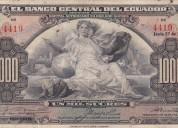 Compro monedas y billetes de ecuador y del mundo.