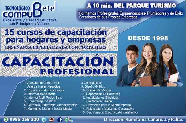 Compu Betel ofrece cursos personalizados