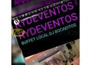 Eventos buffet local dj bocaditos torta 0990636337