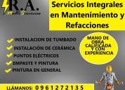 Electricistas, pintores y mano de obra en general