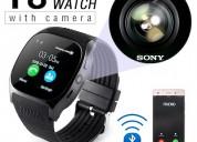 Reloj inteligente t8 bluetooth, teléfono, mate gsm