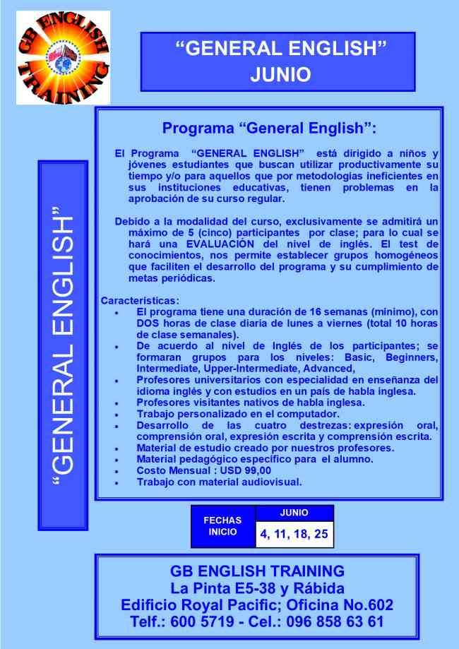 Curso de Inglés General - General English