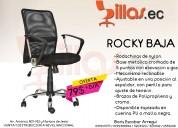 silla de malla rocky baja para oficina