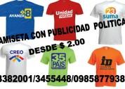 Camisetas para políticos quito