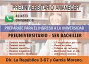 Nivelacion academica / preparatoria amanecer