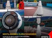 Ventilador industrial aspersor de agua alquiler