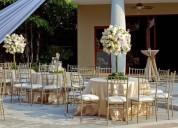 Alquiler de sillas tiffany y mesas de vidrio