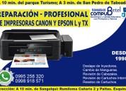 Se ofrece servicio técnico de impresoras canon y epson
