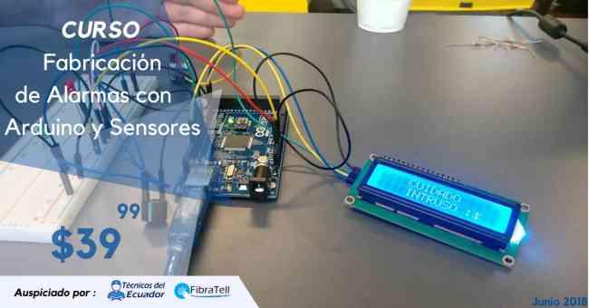$39.99 Curso Fabricación de una Alarma con Arduino