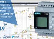 $49.99 curso automatización eléctrica con plc logo
