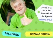 Campamento de verano para chicos con discapacidad