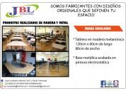 Mesas escolares con diseño