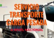 Alquiler camión plataforma fija - carga pesada