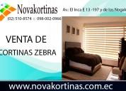 Venta de cortinas tipo zebra