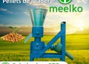 Meelko maquina para hacer pellets de madera mkfd15