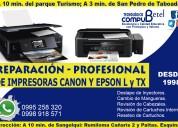 Reparación de impresoras canon y epson-sangolquí
