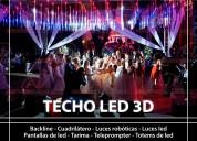 alquiler de techo de led 3d