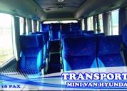Transporte turistico - alquiler mini bus