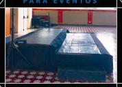 Alquiler de tarimas para varios  eventos