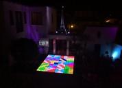 Pista led multicolor para fiestas