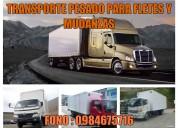 Empresa para mudanzas y fletes con camiones furgon