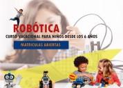 Curso vacacional de robotica  cuenca