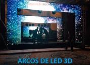 Alquiler de arcos led 3d
