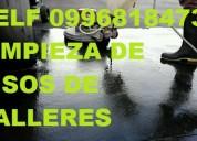 Telf 2428098 lavando de pisos de hormigon