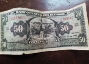 billete antiguo 50 sucres 1950