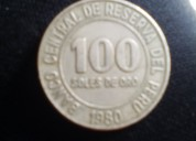 Moneda peruana 1980 (100 soles de oro)