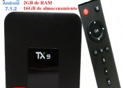 Tv box tx9 quad core 2gb/16gb android 7.1.2 a 60