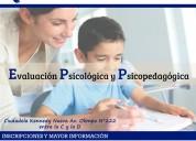Evaluaciones psicolÓgicas y psicopedagÓgicas📑