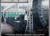 Alquiler de sonido line array