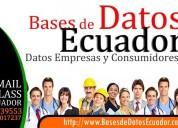 Venta base de datos de empresarios de ecuador