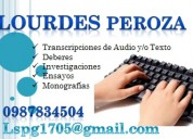 Transcripción de audio y textos